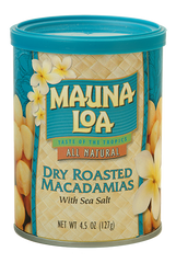 Flavored Macadamias - Dry Roasted Salted Can