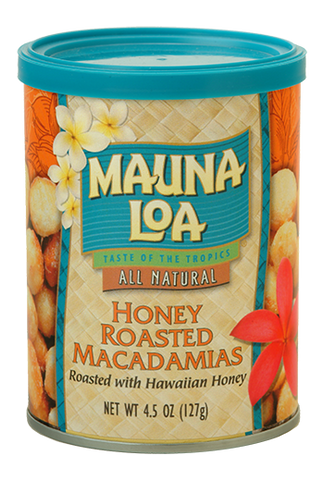 Flavored Macadamias - Honey Roasted Can