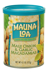 Flavored Macadamias - Maui Onion & Garlic Can