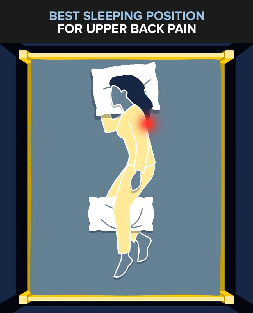 sleeping position for upper back pain