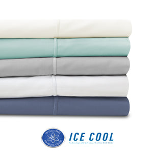 Ice Cool 400 Thread Count Cotton-Rich Sheet Set