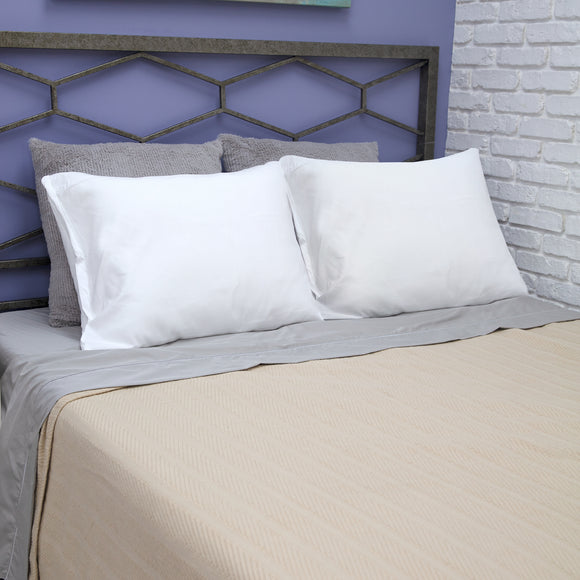 BioPEDIC Fresh and Clean Pillow Protector Pair with Ultra-Fresh Treated Fabric