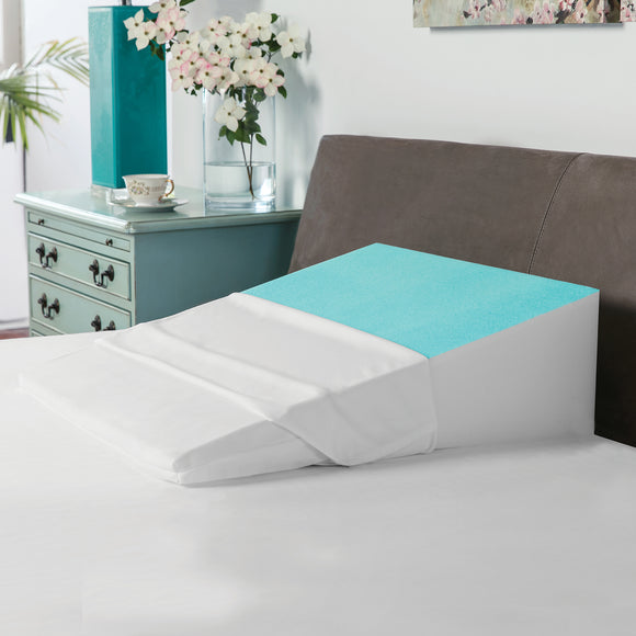 Memory Foam Bed Wedge with Gel Coating