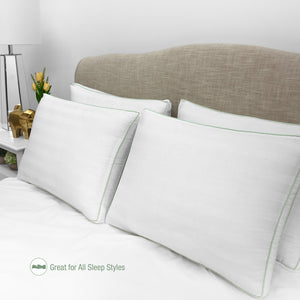 300 Thread Count Plush Fiber Gusseted Bed Pillow