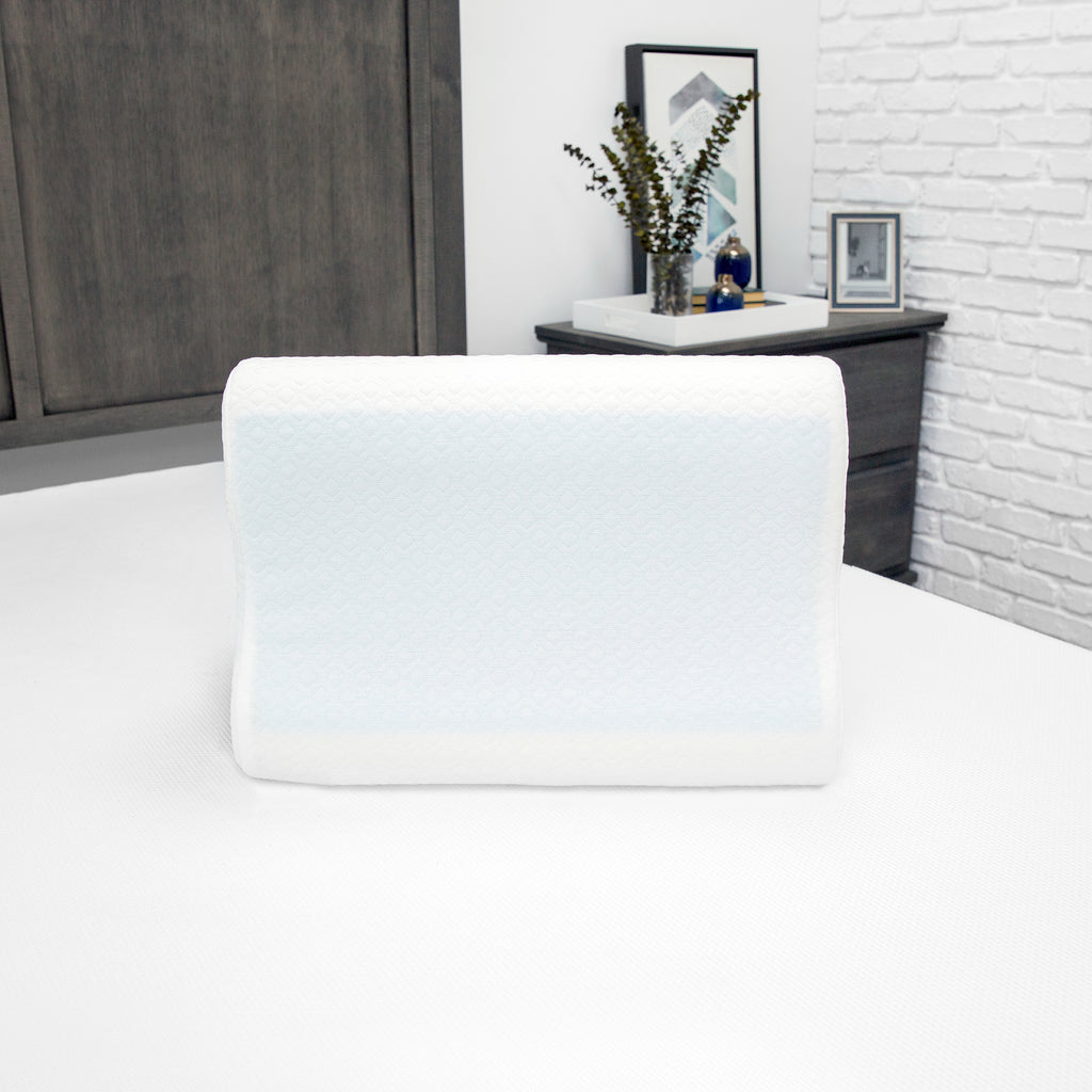 Essential Collection Gel-Overlay Memory Foam Contour Bed Pillow