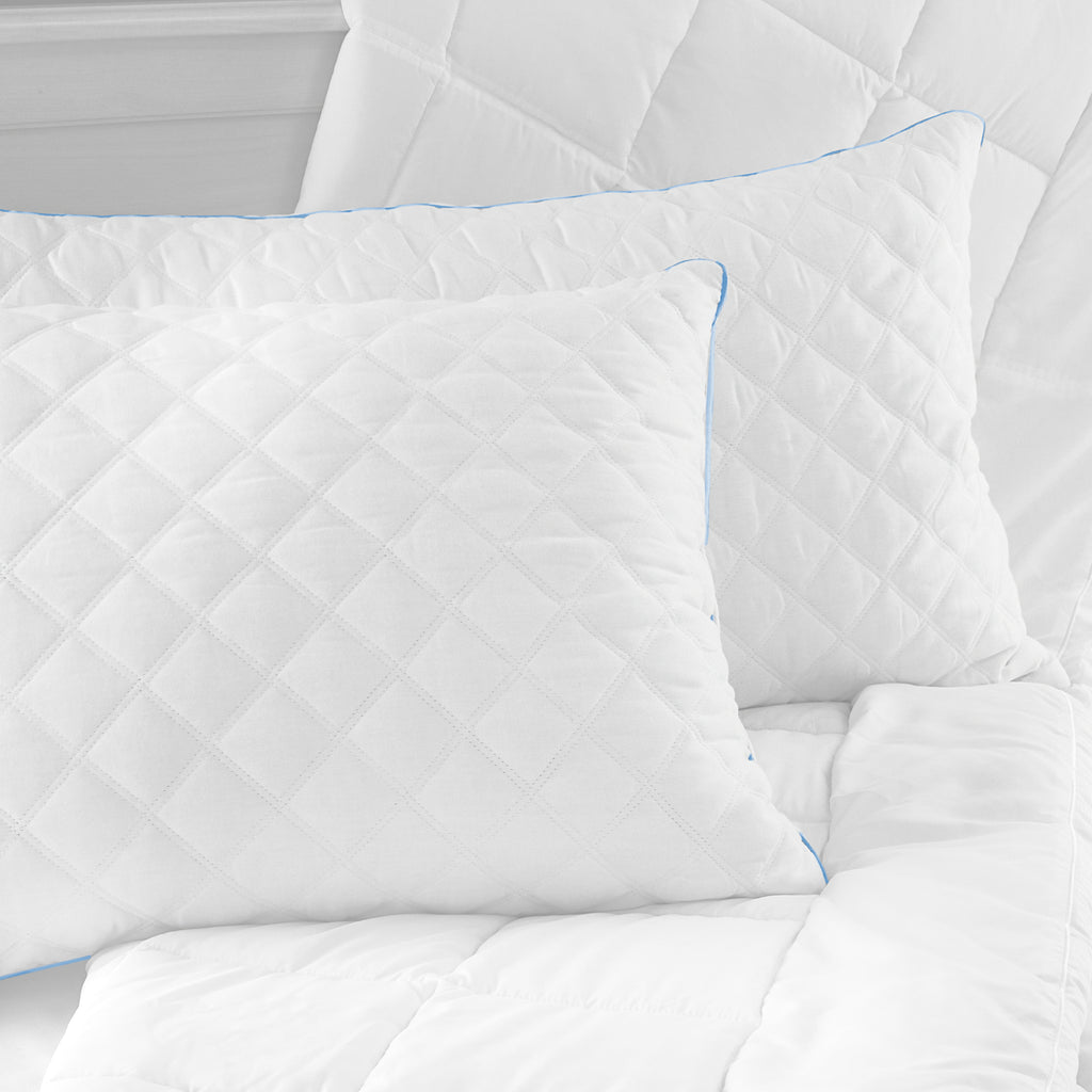 BioPEDIC Quilted Memory Foam and Fiber Supportive Hybrid Bed Pillow - 2 Pack