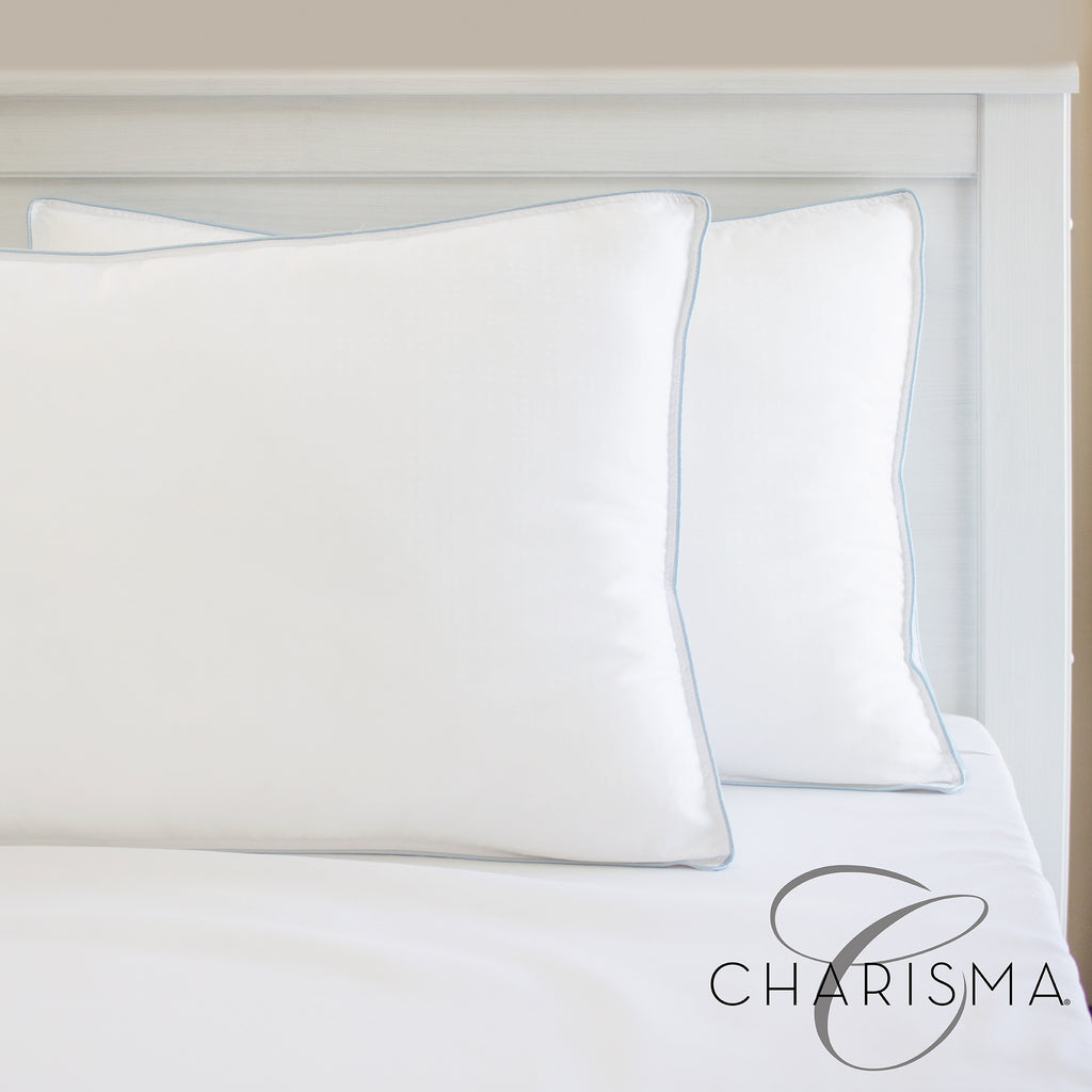 Charisma Gel-Infused Memory Foam Cluster and Gel Fiber Bed Pillow