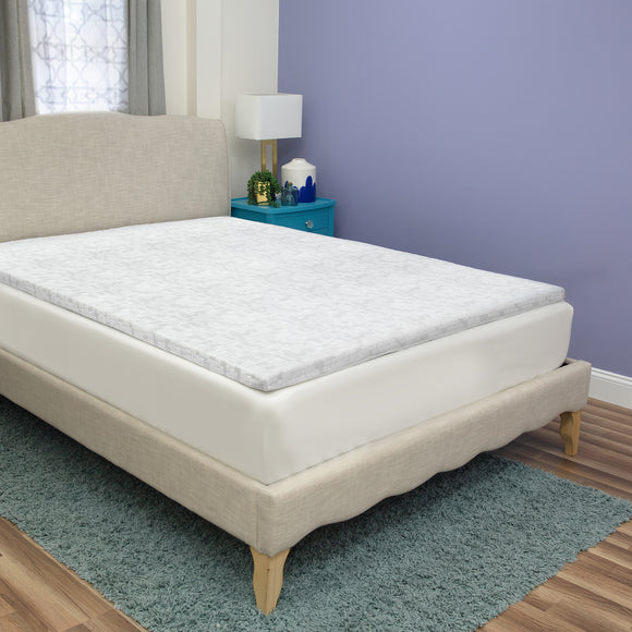 iCOOL 1.5-Inch Gel-Infused Memory Foam Mattress Topper
