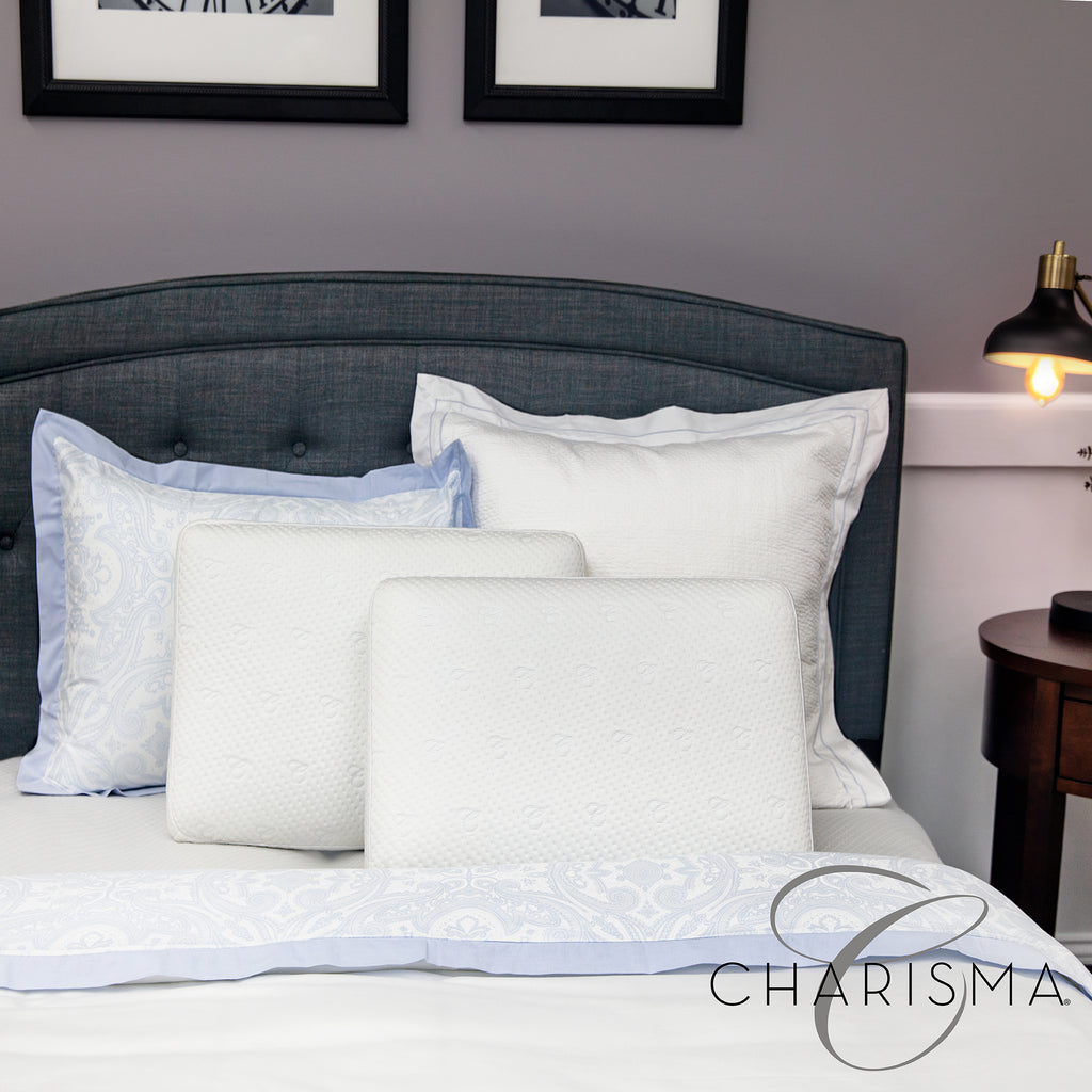 Charisma Luxury Gusseted Gel-Infused Oversized Memory Foam Pillow