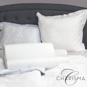 Ship Charisma Luxury Contour Gel-Infused Oversized Memory Foam Pillow