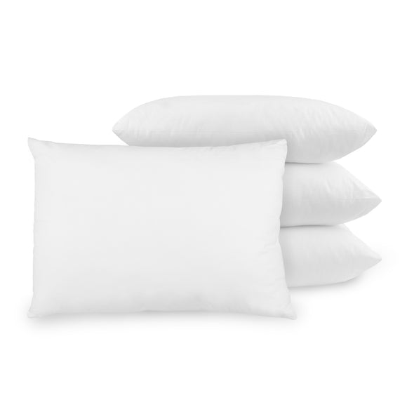 BioPEDIC Standard Fiber Filled Bed Pillow Antimicrobial Ultra-Fresh Treated Fabric - 4 Pack