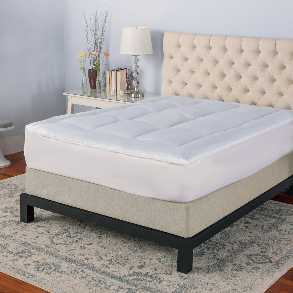 Memory Cloud 3-Inch Quilted Gel-Infused Memory Foam and Fiber Mattress Topper