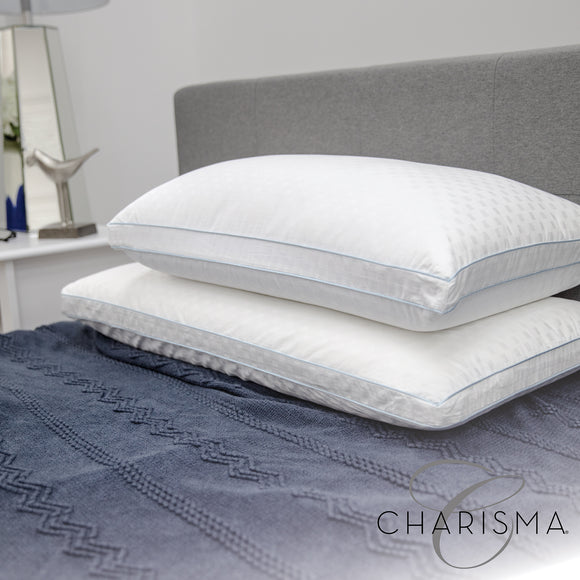 Charisma Paired Comfort Hybrid Memory Foam and Fiber Bed Pillow