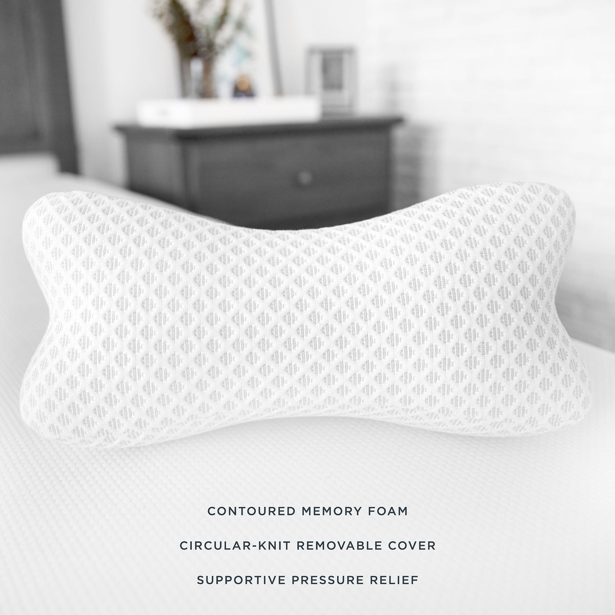 Supportive Memory Foam Bone Shaped Pillow With Adjustable