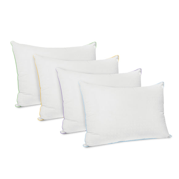 Wellness Collection Fiber Bed Pillow with Infused Fabric Cover