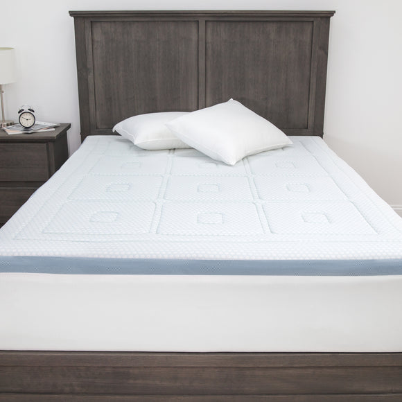 SensorPEDIC SensorCOOL 3-Inch Gel-Infused Memory Foam Mattress Topper