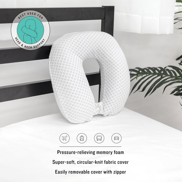 Conforming Memory Foam U-Neck Travel Pillow