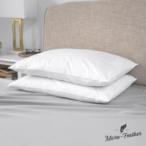 Micro-Feather Plush Pillows - 2 Pack