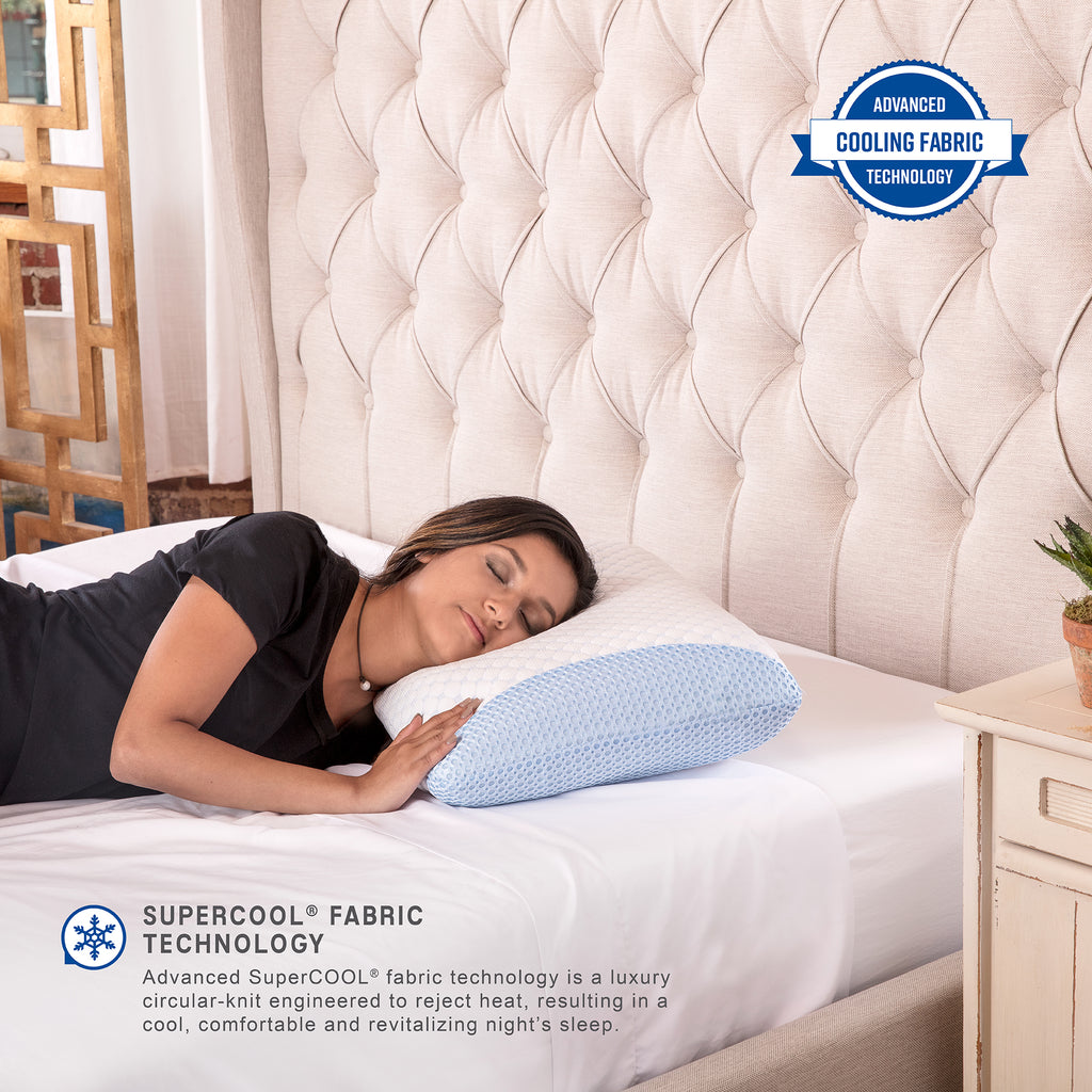 SuperCOOL Gel-Infused Memory Foam Bed Pillow