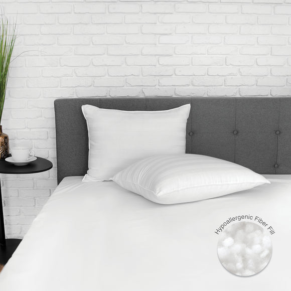 EcoPEDIC Classic 250 Thread Count Bed Pillow - 2 Pack