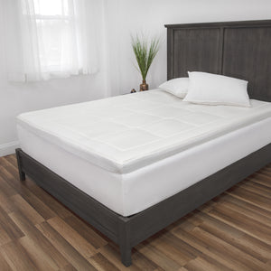 "3"" Euro Majestic Gel-Infused Memory Foam Mattress Topper"