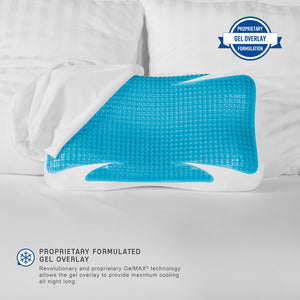 GelMax Cooling Luxury Memory Foam Bed Pillow