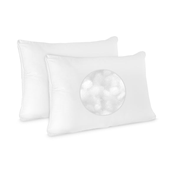 Low Profile, Flat Jumbo Pillow 2 pack