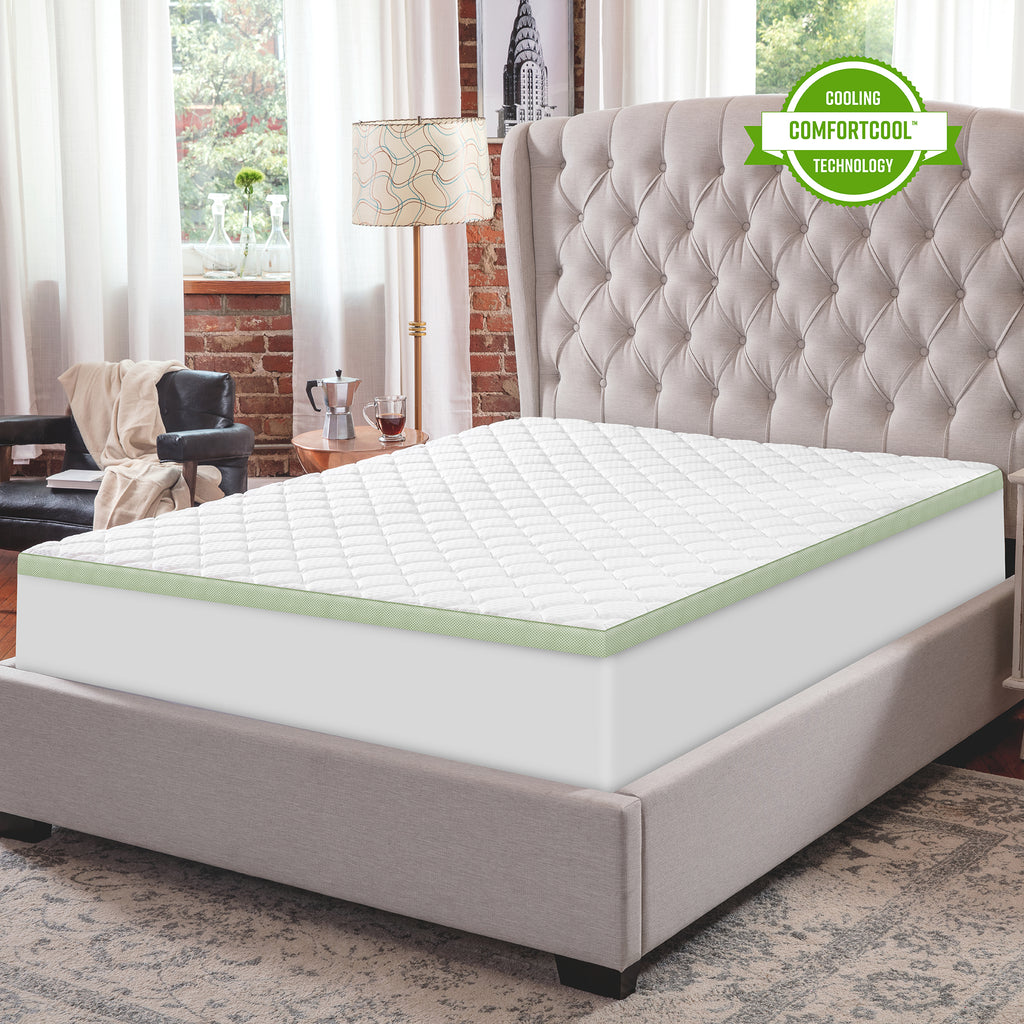 SensorPEDIC 3-Inch Ultimate Cooling Luxury Quilted Memory Foam Bed Topper