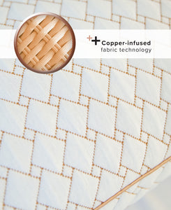 Copper-Infused Memory Foam Cluster Jumbo Pillow