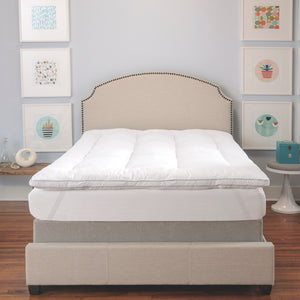 "MemoryLOFT Deluxe 3"" Memory Foam Cluster and SofLOFT Fiber Mattress Topper"