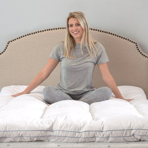 "MemoryLOFT Deluxe 3"" Gel-Infused Memory Foam and Fiber Mattress Topper"