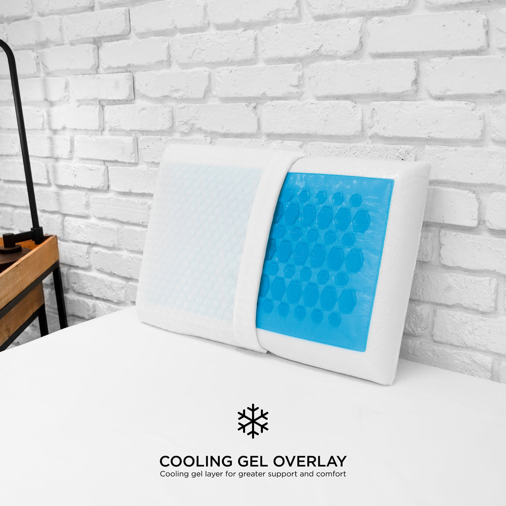 Cooling Gel Overlay Bed Pillow