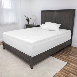 "Euro Majestic 3"" Quilted Memory Foam Mattress Topper"