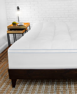 "MemoryLOFT 3.5"" Gel-Infused Memory Foam and Fiber Mattress Topper with Repel-A-Tex Technology"