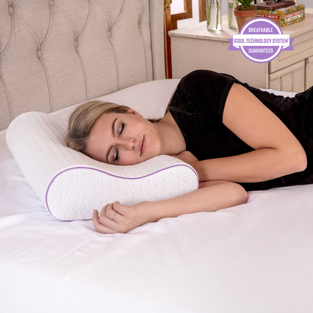 Temperature Regulating Coolest Comfort Contour Memory Foam Bed Pillow