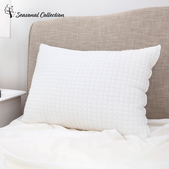 SensorPEDIC All Seasons Reversible Fiber Bed Pillow