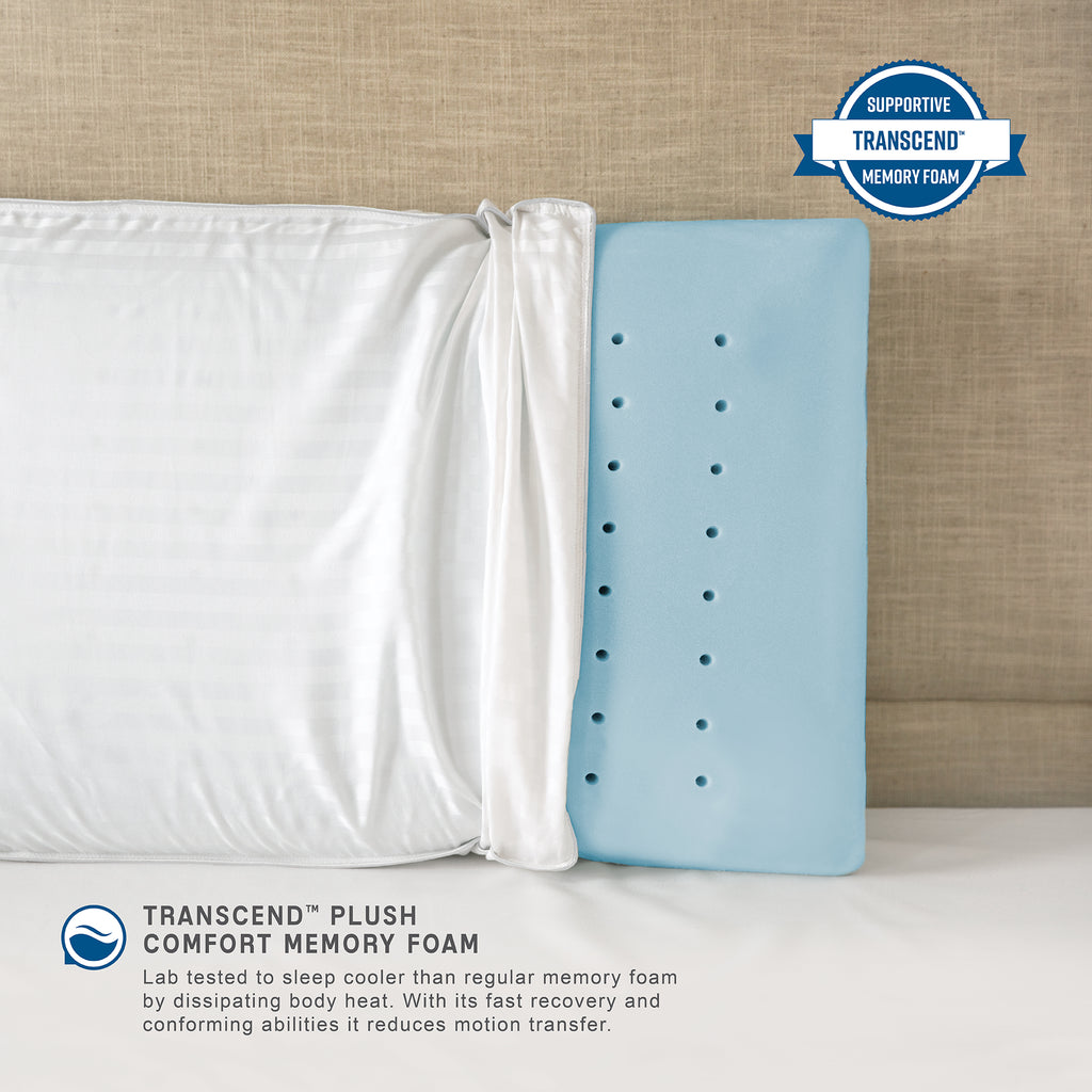 Ultra Comfort Transcend Memory Foam Bed Pillow - Jumbo