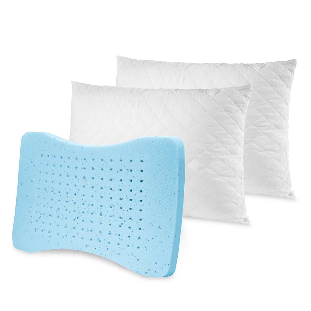 MemoryLOFT Deluxe Quilted Pillow with Gel 2 pack