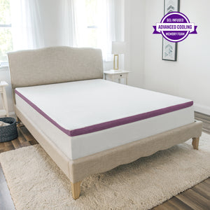 "2"" Advanced Cool Transcend Memory Foam Bed Topper"
