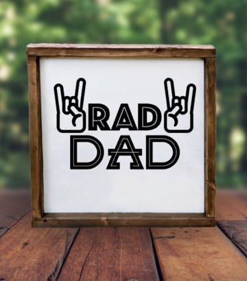 Rad dad canvas sign