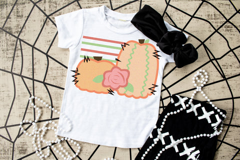 Pretty as a pumpkin girls tee