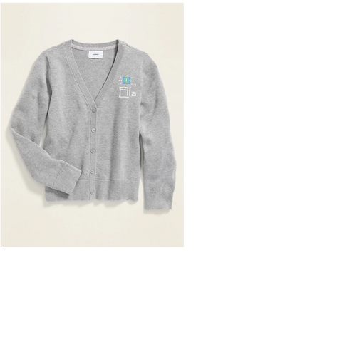 Seeds Academy Uniform-Girls sweater (Grey)