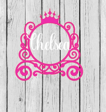 Name decal, instant pot decal, princess decal for girls , gift for girl, princess decal, yeti decal, laptop decal,name stickers, monogram
