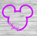 Mickey decal, instant pot decal, Yeti decal, Mickey car decal, mickey sticker, disney window sticker, car decals, fish extender. disney love