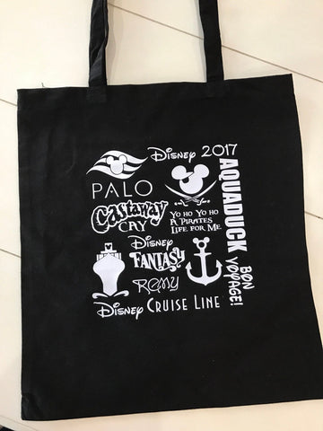 Disney cruise bag, fish extender gift, cabin gift, castaway cay, disney beach bag, disney fantasy bag, FE, DCL, disney cruise,pirate bag