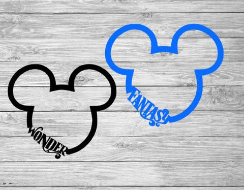 Mickey cruise decal, DCL, FE, mickey sticker, disney window sticker,car decals, Disney Dream, Disney cruise, yeti cup sticker
