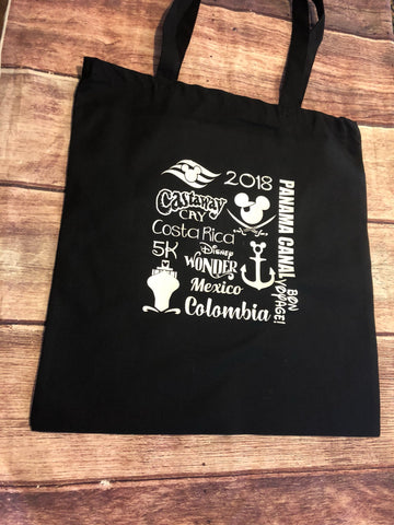 DIsney Panama Canal cotton cruise bag- CUSTOMIZABLE!