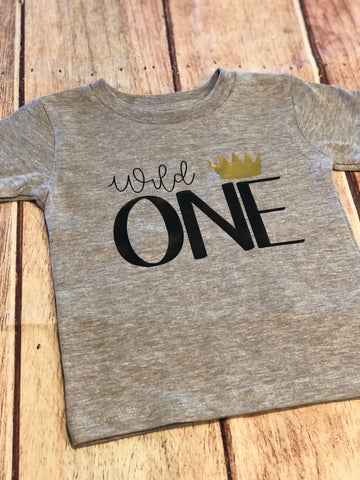 Wild one shirt, First birthday shirt, boys birthday shirt, birthday tshirt, wild things, boys tee, cake smash shirt, matching family shirts