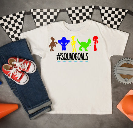 squad goals, toy story shirt, boys disneyland tee, buzz shirt, woody tshirt, disneyworld shirt for boys, boys disney shirt, toy story tee