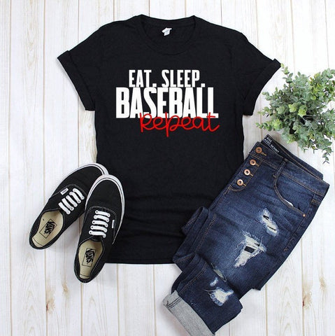 Baseball shirt, baseball mom, eat sleep baseball, cute baseball shirt, spring training shirt, womens baseball shirt, sports tee, coachs wife